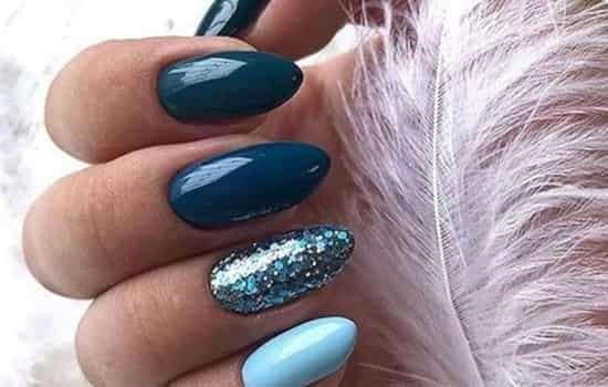 深蓝色系美甲有哪些 天与海在指尖绽放