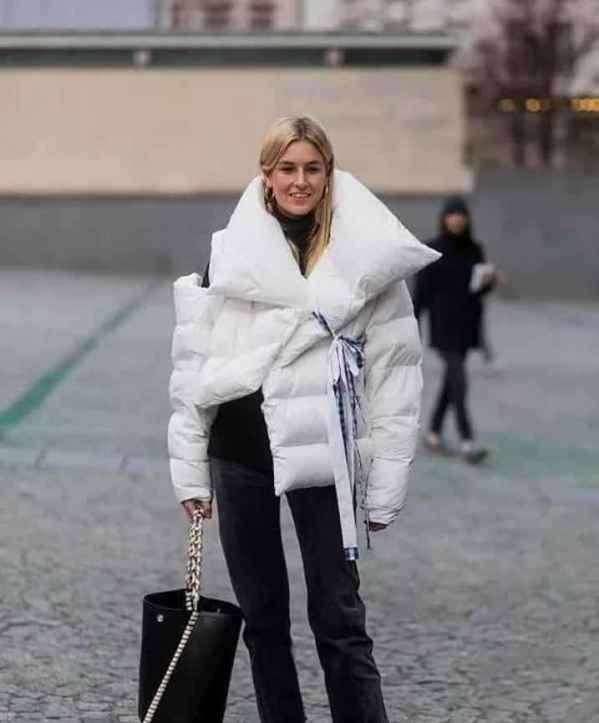 白色羽绒服怎么搭配 洁白蓬松的冬季魅力