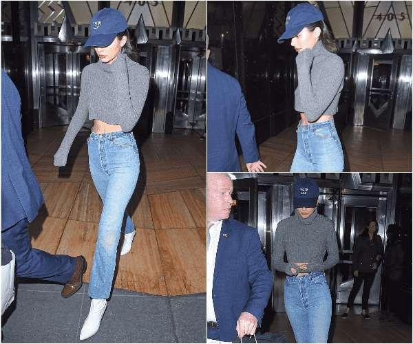 Kendall Jenner 纽约出街 棒球帽打造酷女孩气质