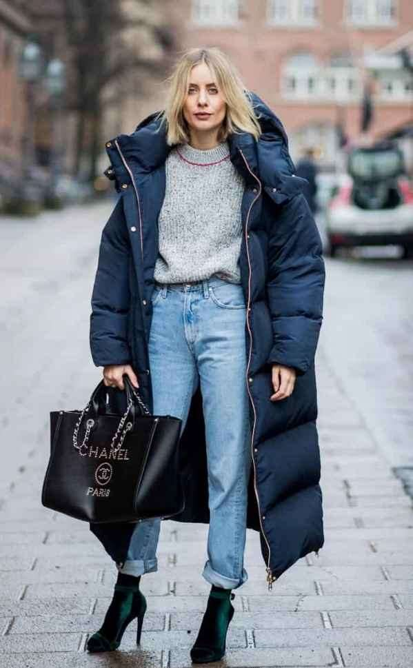 长款羽绒服配什么裤子 长款也有增高的心