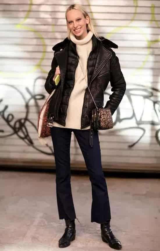 黑棉袄怎么搭配 最百搭的冬季颜色