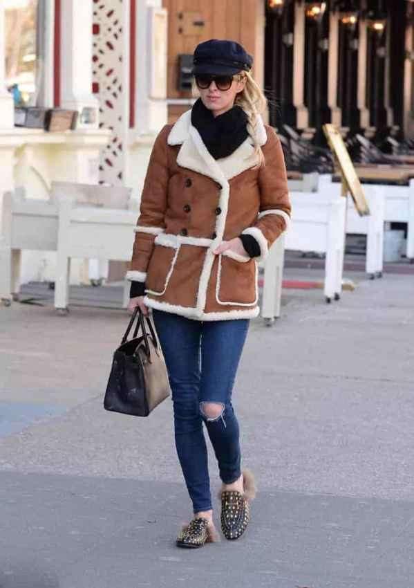羊羔绒外套搭配 玩转冬日色彩