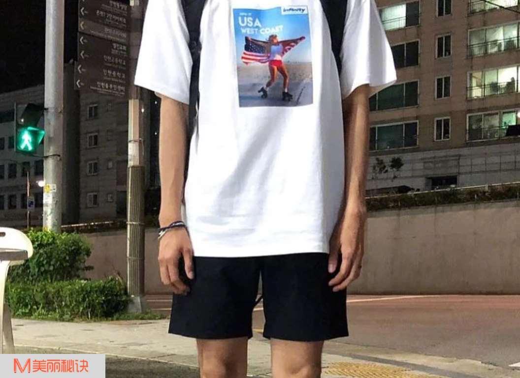夏季男生短裤搭配 非常不错的效果