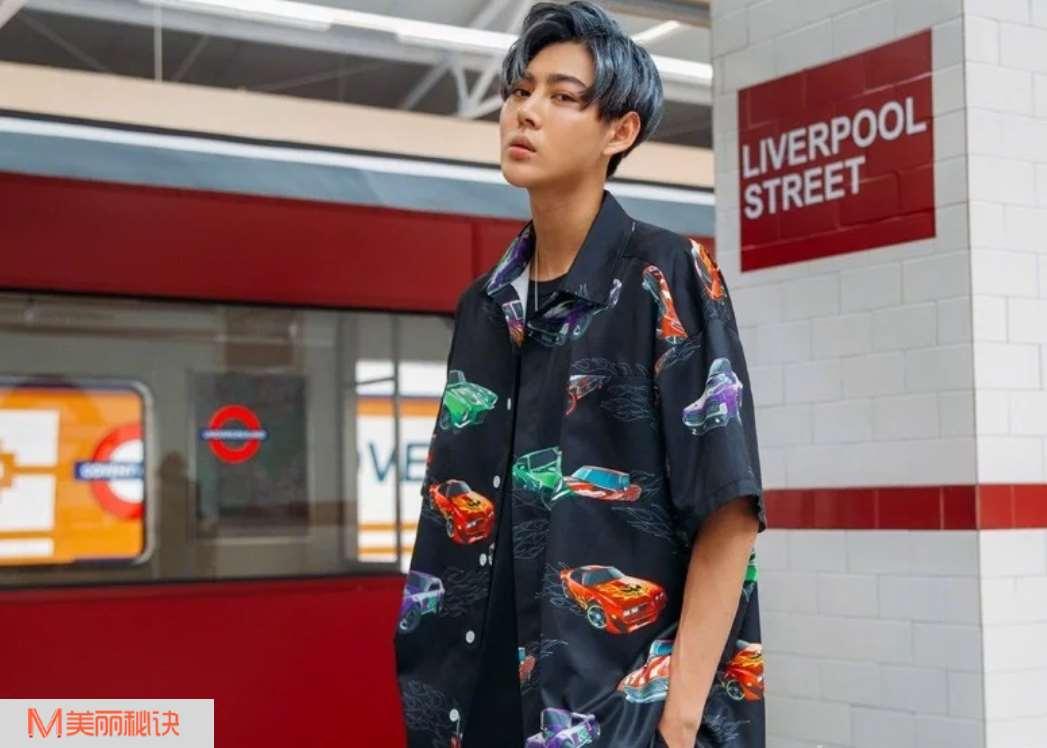 潮男服装搭配 非常个性的印花衬衫