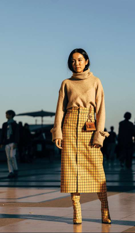 高领毛衣怎么穿 优雅清新的冬日倩影