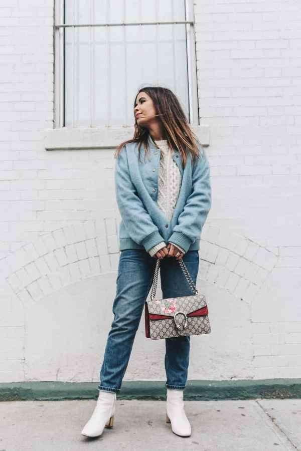 飞行夹克可以配毛衣吗 教你冬季变身美丽小仙女