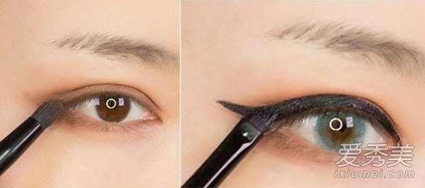 单眼皮MM也适用 性感韩式电眼妆(图)