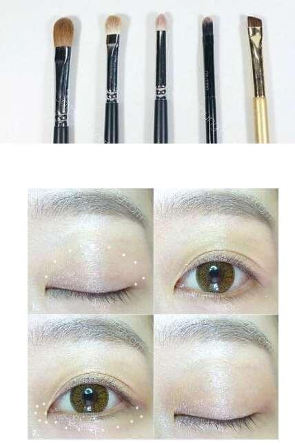 日常妆+明星款眼影的画法 化完妆比秀智更美