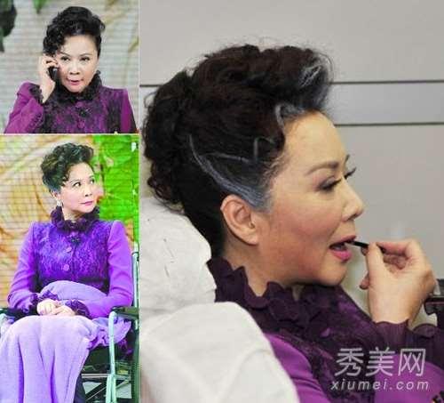 50+蔡明个性妆发 时髦造型自己操刀