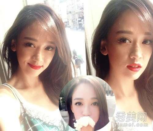 大眼妆+长发遮面 解析谢娜自拍美照秘诀
