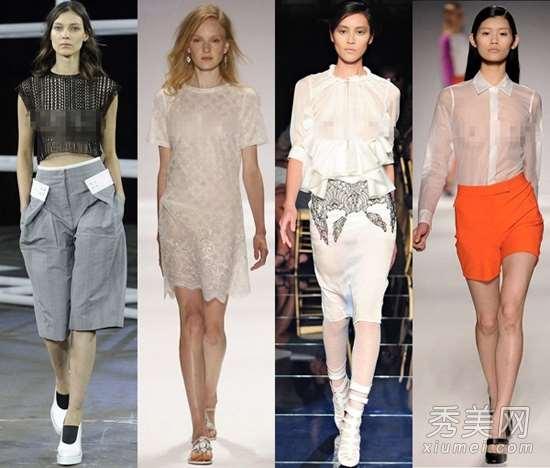 2014纽约时装周 模特T台真空走秀
