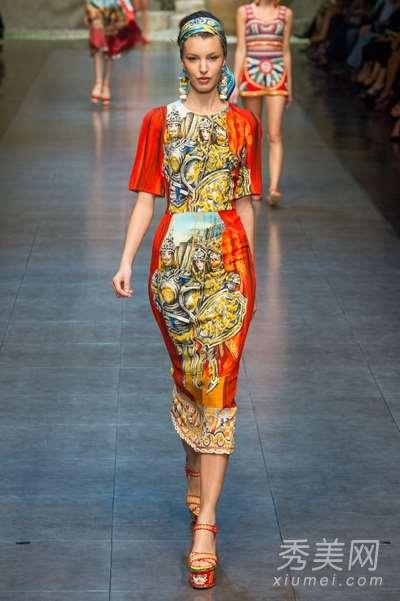 D&G米兰时装周2013春夏系列  大牌也爱最炫民族风
