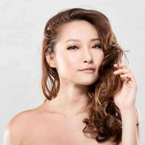 女生中发发型图片 下面的有最齐全的发型