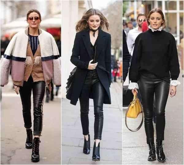 女生皮裤怎么搭配衣服 感受百米外的超强气场