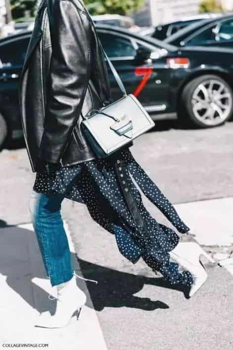 秋冬女生皮衣怎么搭配好看 秋冬外套厚重又没新意不如换它试试
