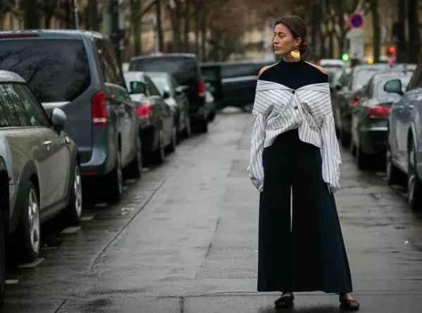 衬衣搭配高领毛衣女 秋冬不穿衬衫配小高领白过了
