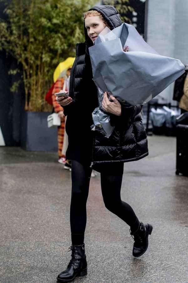 羽绒服欧美街拍 羽绒服也能时尚度爆表