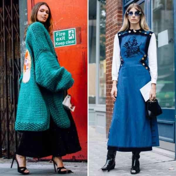 2018春夏伦敦时装周秀场外街拍  时尚达人展四季不同风格