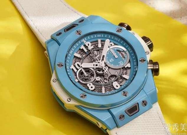 BigBang陶瓷壳又有新色淡蓝色记计时码表具备夏季风彩感