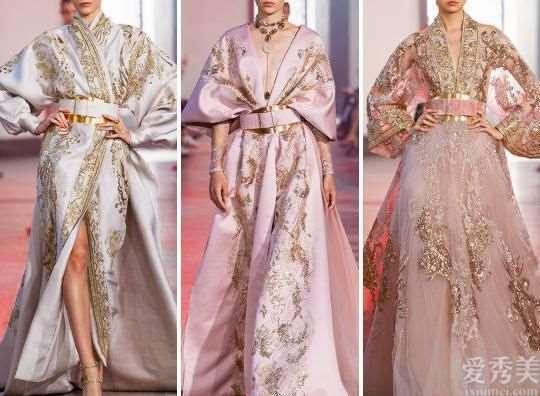 绮丽金色刺绣礼服ElieSaab2020,融合中西方元素,光彩夺目