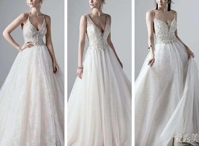 SotteroMidgley高定新娘礼服,犹如工艺品的复古时尚蕾丝!雅致贵族气质