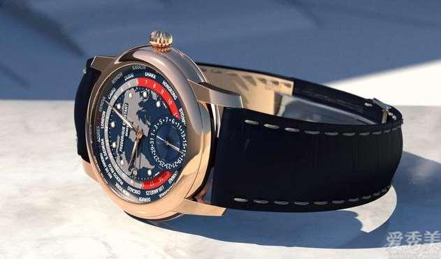 康斯登发布全新升级百年老雅致自己机芯世界时区玫瑰金限定腕表