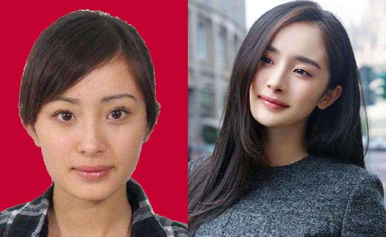 女明星证件照和真人对比,杨紫迪丽热巴堪比整容,鞠婧祎变化不大_明星新闻