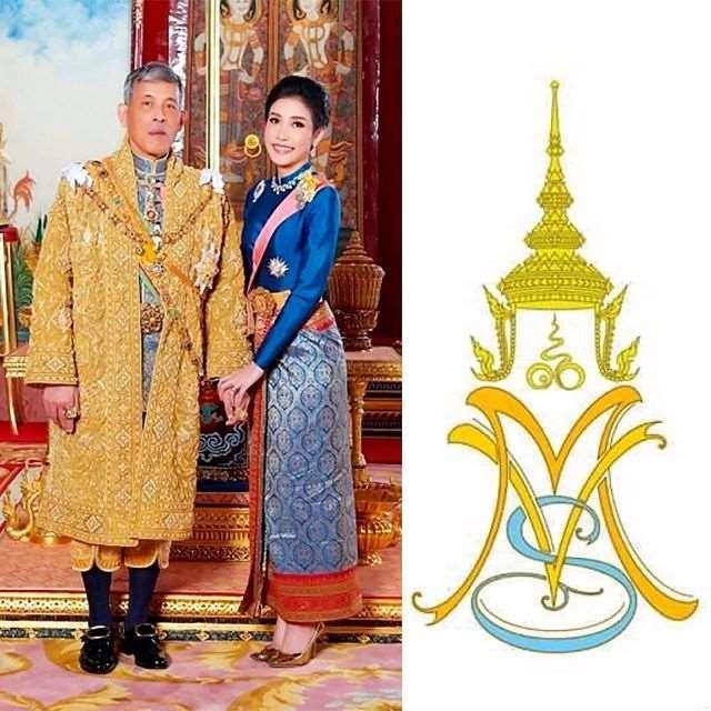68岁泰王太浪漫,为贵妃设计爱的专属Logo,贵妃受宠超空姐王后_明星新闻