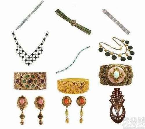 ArtDeco风格珠宝首饰,大名鼎鼎,具有节奏性的视觉冲击撞击力