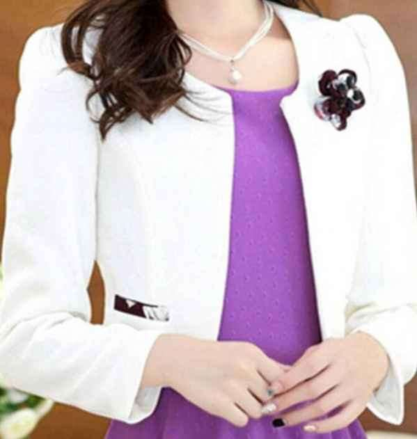 紫色打底裙配什么外套 紫色并没有这么难驾驭