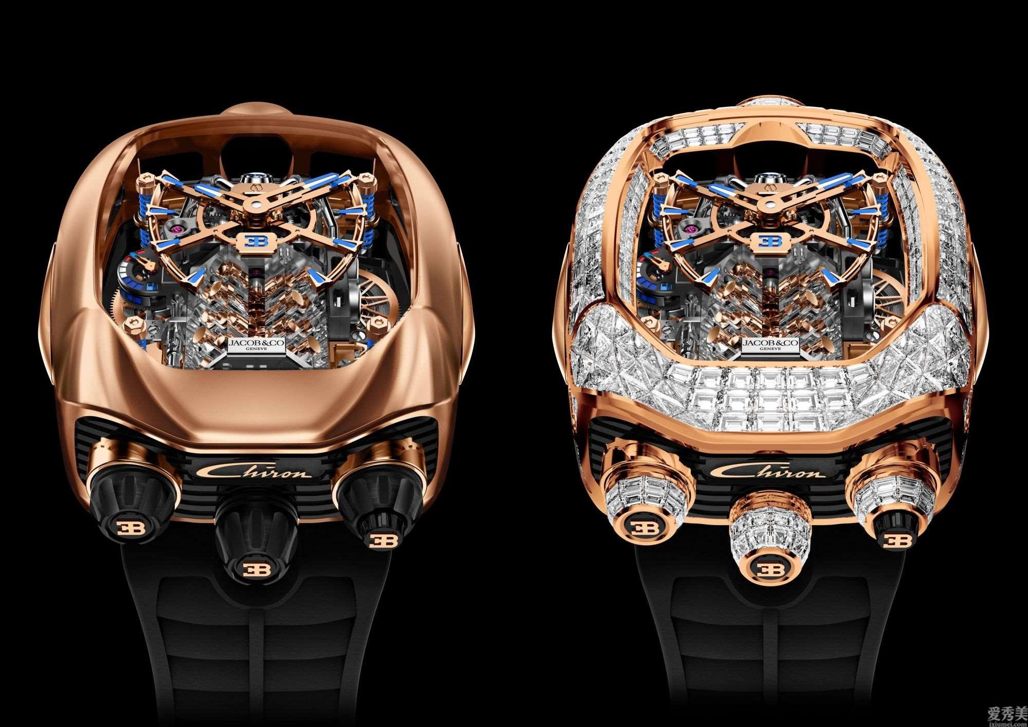 比绝大多数汽车还贵的布加迪Chiron陀飞轮手表,简直是艺术品