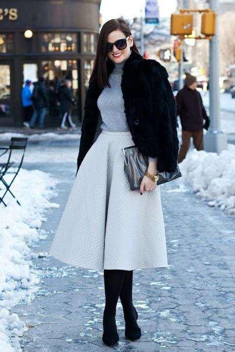 冬天穿裙子腿怎么保暖