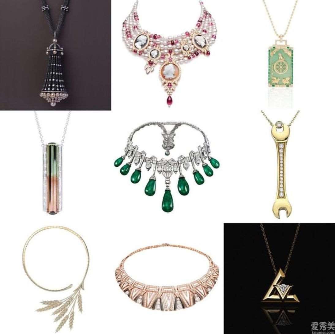 华丽的晶石、独特的设计方案和高超的加工工艺,汇总2020年出色的项链