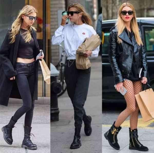 黑色马丁靴配什么裤子