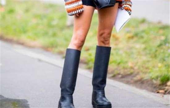 骑士靴绑带好看还是光面好看