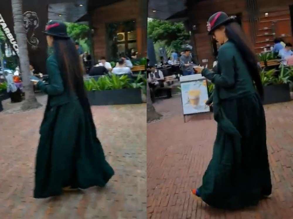 杨丽萍独自一人现身街头,乘豪车潇洒离去,被指步履蹒跚似老太_明星新闻