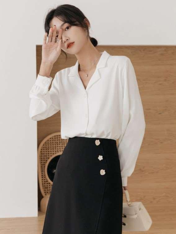 2021新款女衬衫修身款