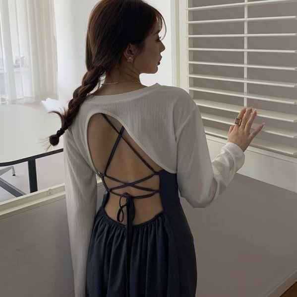 连衣裙蝴蝶结的系法步骤